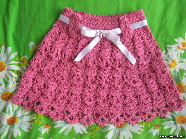 Вязание крючком: юбки. Фото, схемы